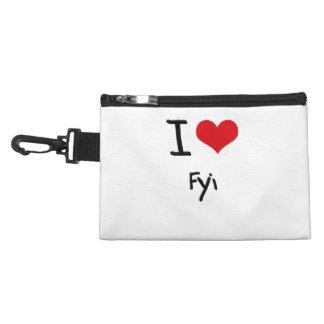 I Love Fyi Accessory Bags