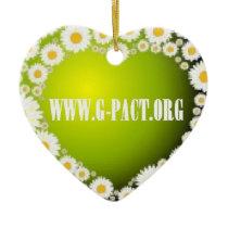 I Love G-PACT Ceramic Ornament