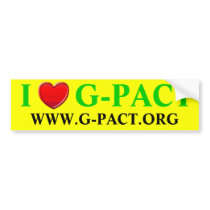 I Love G-PACT.org Bumper Sticker