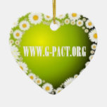 I Love G-PACT Double-Sided Heart Ceramic Christmas Ornament
