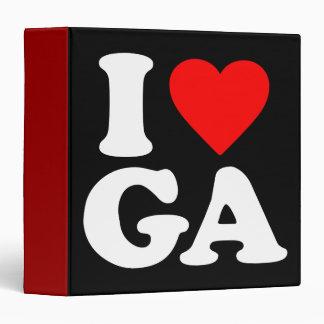 I LOVE GA 3 RING BINDERS