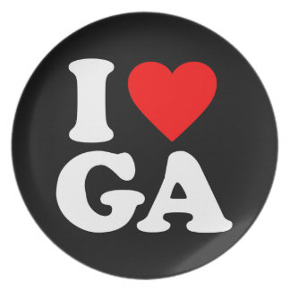 I LOVE GA PLATE