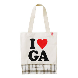 I LOVE GA ZAZZLE HEART TOTE BAG