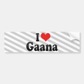 I Love Gaana Bumper Sticker
