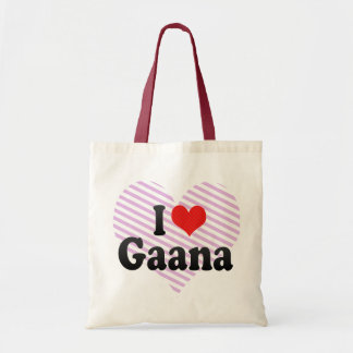 I Love Gaana Canvas Bag