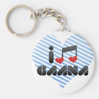 I Love Gaana Keychains