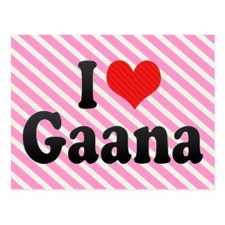 I Love Gaana Postcard