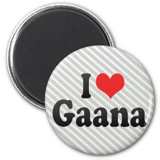 I Love Gaana Refrigerator Magnets