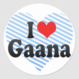 I Love Gaana Round Sticker