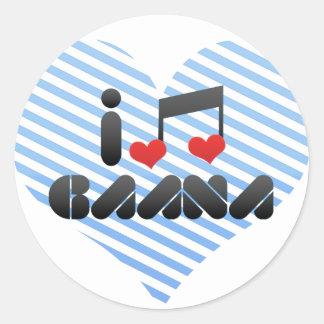 I Love Gaana Sticker