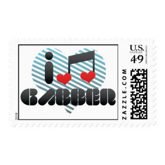 I Love Gabber Postage Stamp