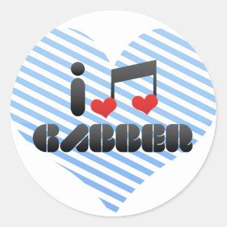 I Love Gabber Round Sticker