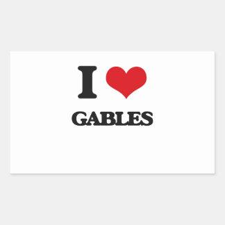I love Gables Rectangle Sticker