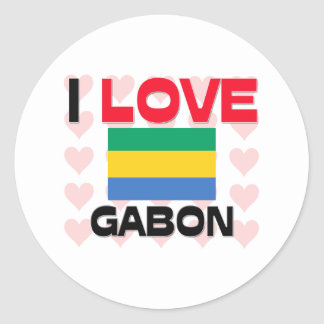 I Love Gabon Classic Round Sticker