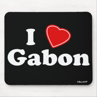 I Love Gabon Mousepads