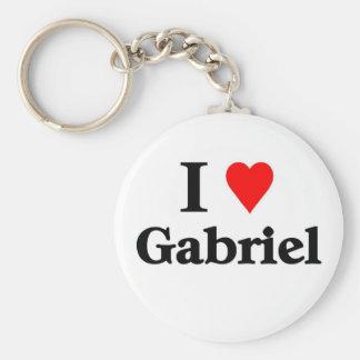 I love Gabriel Basic Round Button Keychain