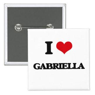 I Love Gabriella 2 Inch Square Button