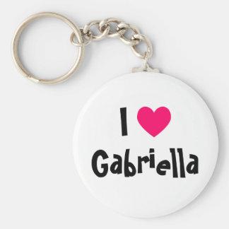 I Love Gabriella Keychain