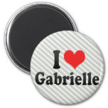 I Love Gabrielle Fridge Magnets