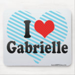 I Love Gabrielle Mouse Pad