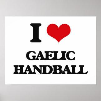 I Love Gaelic Handball Poster