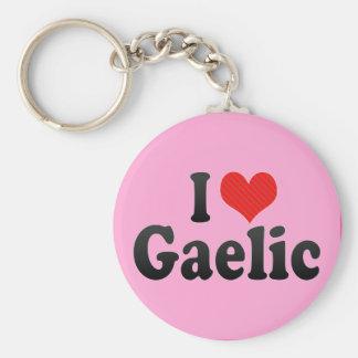 I Love Gaelic Keychain