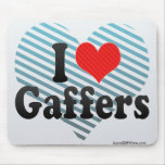 I Love Gaffers Mouse Pad