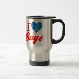 I Love Gage, Oklahoma 15 Oz Stainless Steel Travel Mug