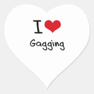 I Love Gagging Heart Sticker