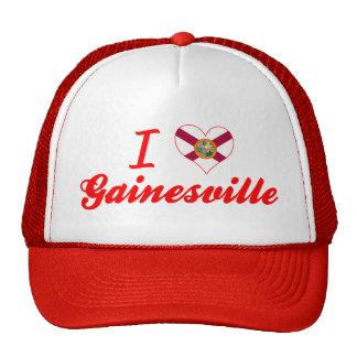 I Love Gainesville, Florida Mesh Hat