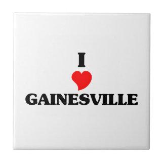 I love Gainesville Ga Small Square Tile