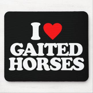 I LOVE GAITED HORSES MOUSE PAD