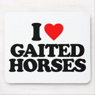 I LOVE GAITED HORSES MOUSEPAD