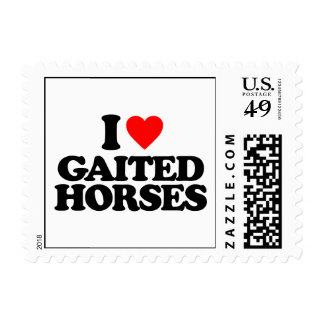 I LOVE GAITED HORSES POSTAGE STAMP
