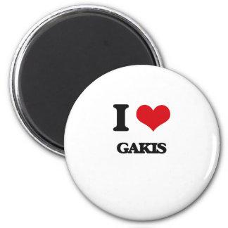 I love Gakis 2 Inch Round Magnet