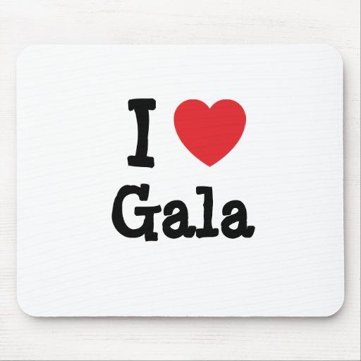 I love Gala heart T-Shirt Mouse Mat