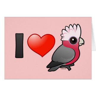 I Love Galahs (crest up) Card