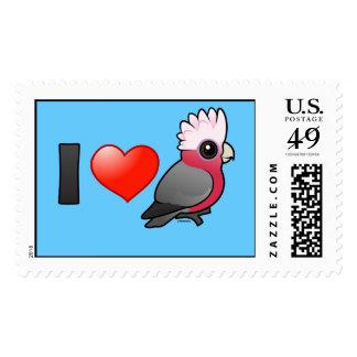 I Love Galahs (crest up) Postage