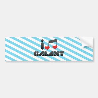 I Love Galant Bumper Stickers
