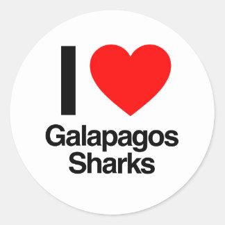 i love galapagos sharks sticker