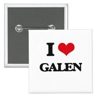I Love Galen 2 Inch Square Button