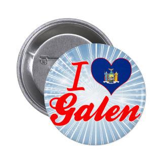 I Love Galen, New York Pinback Button