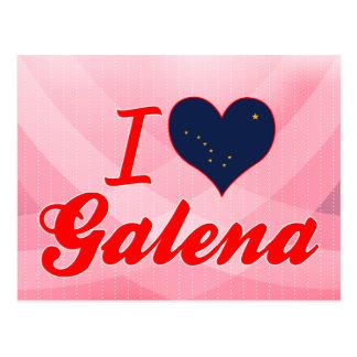 I Love Galena, Alaska Post Card