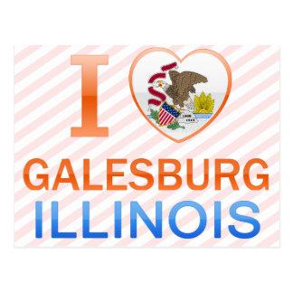 I Love Galesburg, IL Postcard
