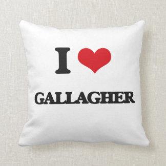 I Love Gallagher Throw Pillow