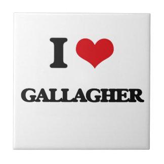I Love Gallagher Small Square Tile
