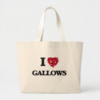 I Love Gallows Jumbo Tote Bag
