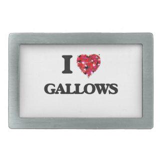 I Love Gallows Belt Buckles