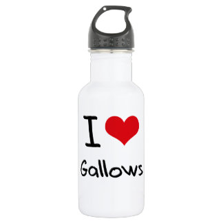 I Love Gallows 18oz Water Bottle
