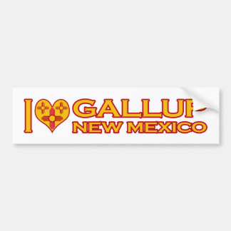 I Love Gallup, NM Bumper Sticker